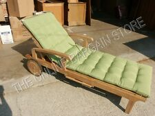 Frontgate Outdoor Patio Chaise Lounge Cushion GINGKO GREEN Deep Tufted 23x74 NEW