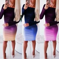 Mini Women Bandage Evening Party Club Bodycon Dress Casual Long Sleeve Cocktail