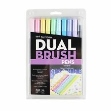Tombow Dual Brush Pen Art Markers 10-Pack Pastel 56187