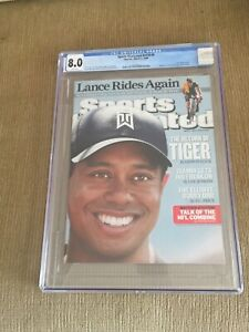 TIGER WOODS 2009  Sports Illustrated NEWSSTAND CGC 8.0 MINT WHITE PAGES