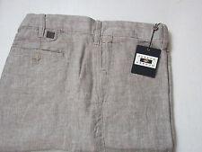 $89 New Jos A Bank JOSEPH ABBOUD Linen flat front shorts Taupe herringbone 32 W