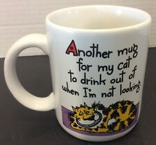 Another Mug For My Cat To Drink Out Of Shoebox Greetings Hallmark Coffee Mug