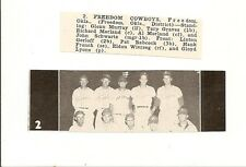 Freedom Cowboys Oklahoma 1953 Baseball Team Picture
