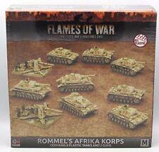 Flames of War GEAB14 WWII German Rommel's Afrika Korps (Plastic Army Deal Set)