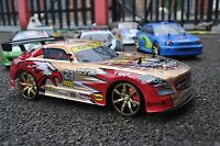Mercedes Benz SLS AMG GT Style 4WD Drift RC Car With 4 Extra Rubber Tyres