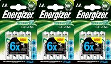 12 x Energizer AA EXTREME Rechargeable Batteries 2300 mAh Pre Charged NiMH LR6