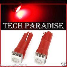1x Ampoule T5 W1.2W W2X4.6D ( B8.3D / B8.5D ) LED SMD Rouge Red Neo Wedge