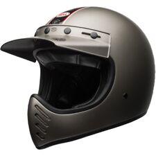 NEW BELL MOTO-3 INDEPENDENT MATTE TITANIUM  MOTORCYCLE HELMET LARGE RETRO MOTO3