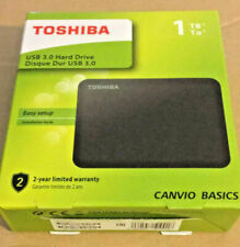 Toshiba Canvio 1TB Portable External Hard Drive 2.5 Inch-USB-Black-HDBT410EK3A