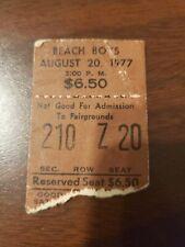 Vintage Ticket Stub: Beach Boys August 20, 1977 Kentucky Fairgrounds