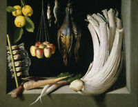 "oil painting on canvas ""Still Life with Game Fowl,Vegetables and Fruits   """