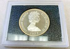1977 Cayman Islands $25 Silver Proof Queen Elizabeth II Silver Jubilee COA
