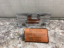 Vintage NOS 1941 Chrysler Chrome Radio Face Plate Trim Dash Part