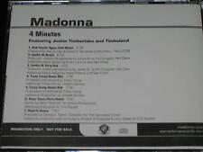 MADONNA w/ Justin Timberlake + Timbaland - 4 Minutes - 7 Track DJ Promo CD! RARE
