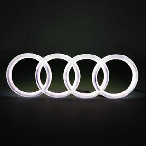 Illuminated Car Led Grille Emblem Logo Light For Audi Q5 Q7 A6 A7 Q3 28.8cm Snap