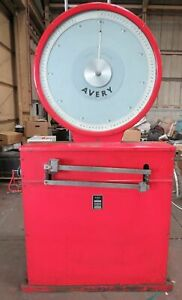 Large Industrial Avery Platform Weighing Scales, Vintage Scales Interior Design