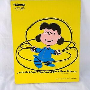 Frame Tray Puzzle Playskool Peanuts Lucy Jumping Rope Childs Vintage 230-12 1952