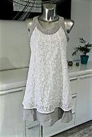 robe superposée coton/lin AVENTURES DES TOILES taille 38 fr 42i excellent état