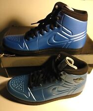 AIR JORDAN Retro 1 anodized BLUE black BASKETBALL SHOES SIZE 9