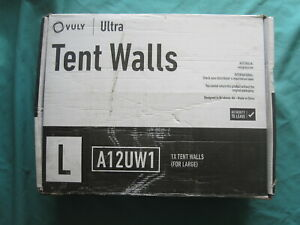 VULY LARGE ULTRA TENT WALLS  NEVER USED IN  BOX & ASSEMBLY MANUAL FOR TRAMPOLINE