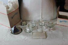 Vintage Summerhill crystal lot of animal ,wizard ,pyramid etc figurine