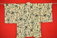 Vintage Japanese Kimono Silk Antique BORO HAORI Kusakizome Dyed/AE40/680