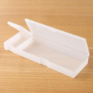 Muji Polypropylene White Multipurpose Pen Pencil Case extra large madein japan