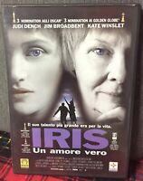 IRIS Un Amore Vero DVD Kate Winslet Dench Broadbent Ex Noleggio Come da Foto N