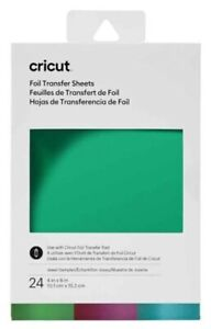 Cricut Foil Sampler Transfer Sheets JEWEL For Cricut Maker & Explore - 24 Sheets