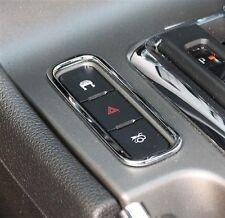 2010-2014 Mustang Chrome Center Console Trunk Hazard Traction 3 Button Bezel