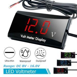 12V LED Digital-Panel-Meter Voltmeter Auto Motorrad Voltanzeige Spannungsanzeige