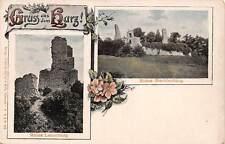 Germany, Gruss aus dem Harz! Ruine Stecklenburg, Ruine Lauenburg, flowers