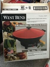 "EUC West Bend 6 QT 14"" ELECTRIC WOK 79525"