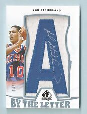 ROD STRICKLAND 2013/14 SP AUTHENTIC BY THE LETTER PATCH AUTOGRAPH AUTO /75