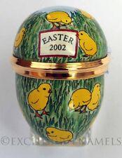 Halcyon Days Enamels 2002 Easter Chicks Mini Enamel Egg New In Box