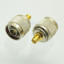 1pce Adapter N plug male to RP.SMA plug female RF connector straight