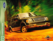 2003 Ford Expedition 38-page Original Sales Brochure - Green label