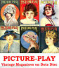 Picture-Play 1920s Vintage Collection Film Movie Screen Magazines on Data Disc