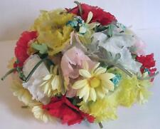 Amazing Ladies WILD Floral Multi Color 1950's Dome Hat by Mr Henri New York