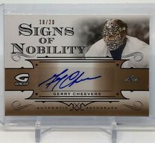 2015-16 Genesis Gerry Cheevers Signs of Nobility Auto 18/20!
