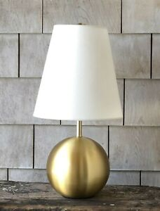 kate spade New York Round Gold Sphere Small Table Lamp ~ New