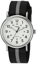 Timex Men's Weekender Quartz Silver Tone Brass Reversible Nylon Watch TW2P72200