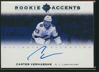 2019-20 Upper Deck Ultimate Collection Rookie Accents Auto /99 Carter Verhaeghe