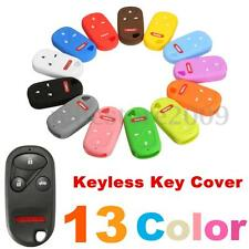 Silicone 4 Button Keyless Remote Key Case Fob Cover Holder For Honda Pilot Acura