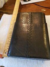 black leather cigar travel case box NEW