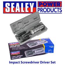 """Sealey Premier AK208 Impact Screwdriver Driver Set 13 Bits 1/2"""" Sq Dv Pro Tool"""