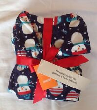 NWT Boy Gymboree 2015 Christmas fleece snowman navy blue 2 piece pajamas 18-24 m