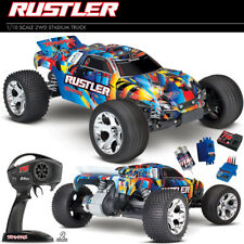 Traxxas 37054-4 Rustler XL-5 1/10 2WD Off-Road Truck Rock N Roll RTR w/ TQ