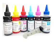 600ml Universal Refill Ink dye Bottles CISS Refillable Cartridge + 6 x syringes