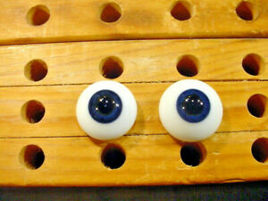 a pair vintage solid doll glass eyes 24 mm for bisque doll doctor age1910 A 4928